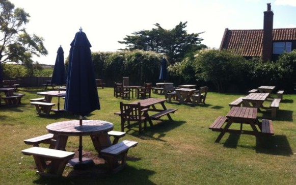 Lovely, traditional pub garden